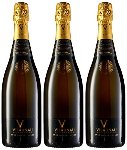 Vilarnau Brut Nature Vintage - D.O. Cava - 6 Bottelas de 750 ml - Total : 4500 ml