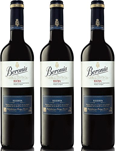 Beronia Reserva - Vino D.O.Ca. Rioja - 3 botellas x 750 ml - Total: 2250 ml